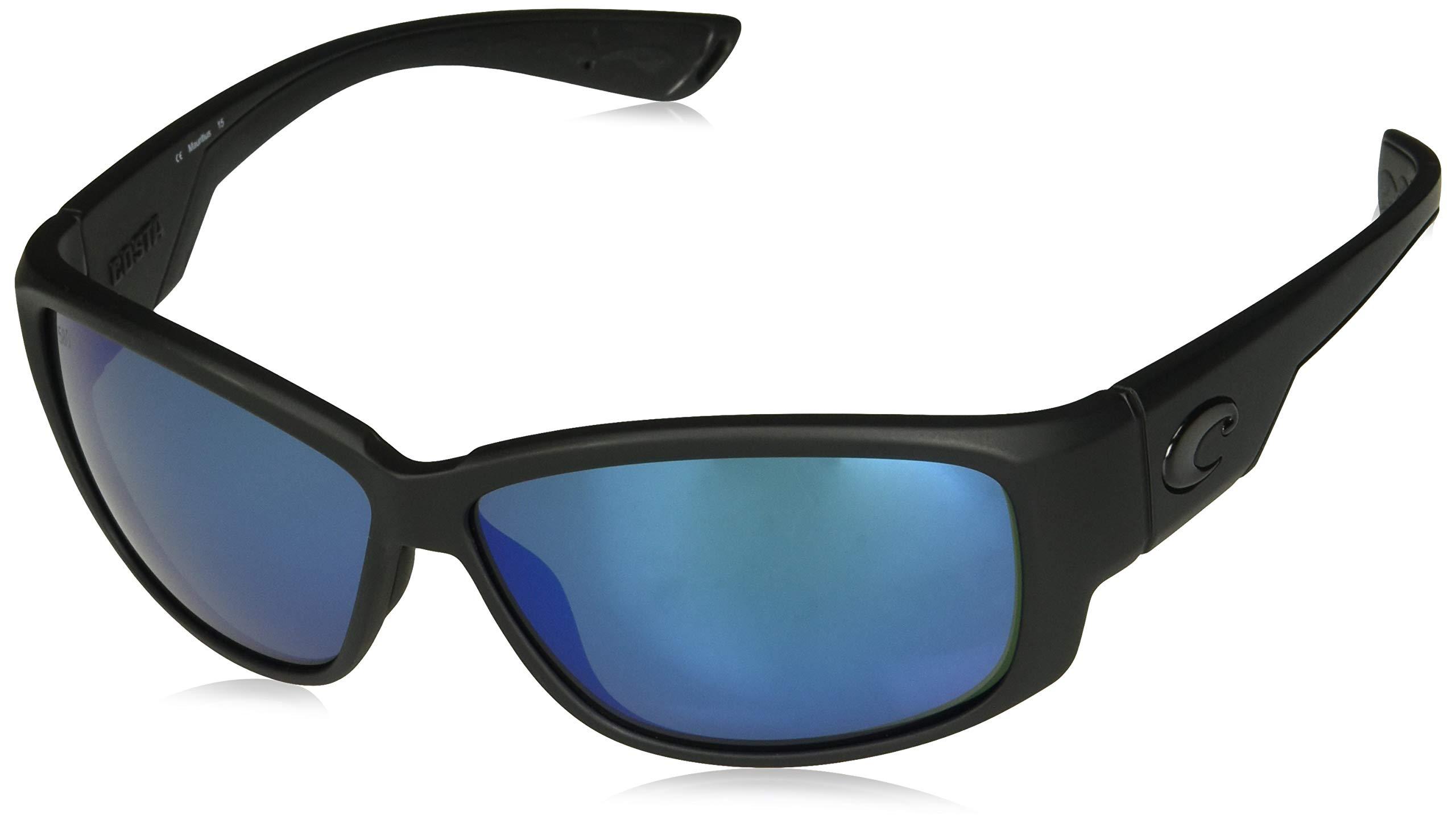 Costa Del Mar Luke Sunglasses, Blackout, Blue Mirror 580G Lens by Costa Del Mar