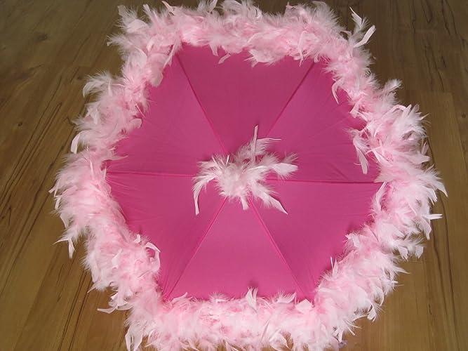 Amazon Com Second Line Umbrella Princess Feather Parasol Light Pink