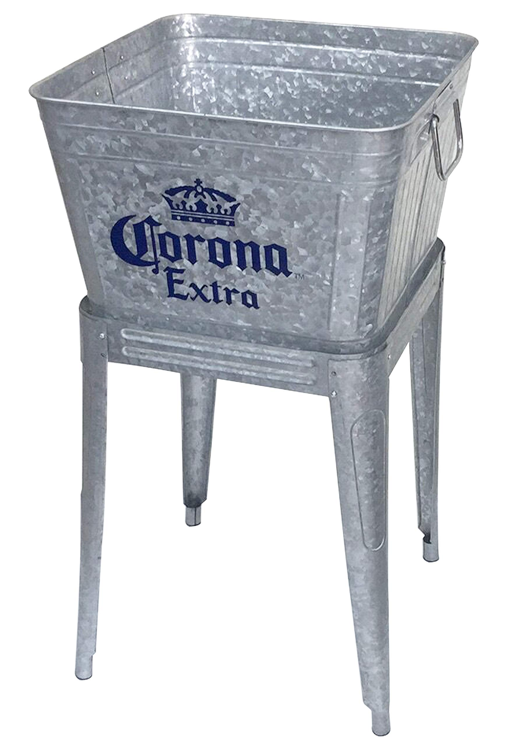 Leigh Country MC 47940 Galvanized Steel 42 Qt. Corona Extra Tub with Stand, Silver by Leigh Country