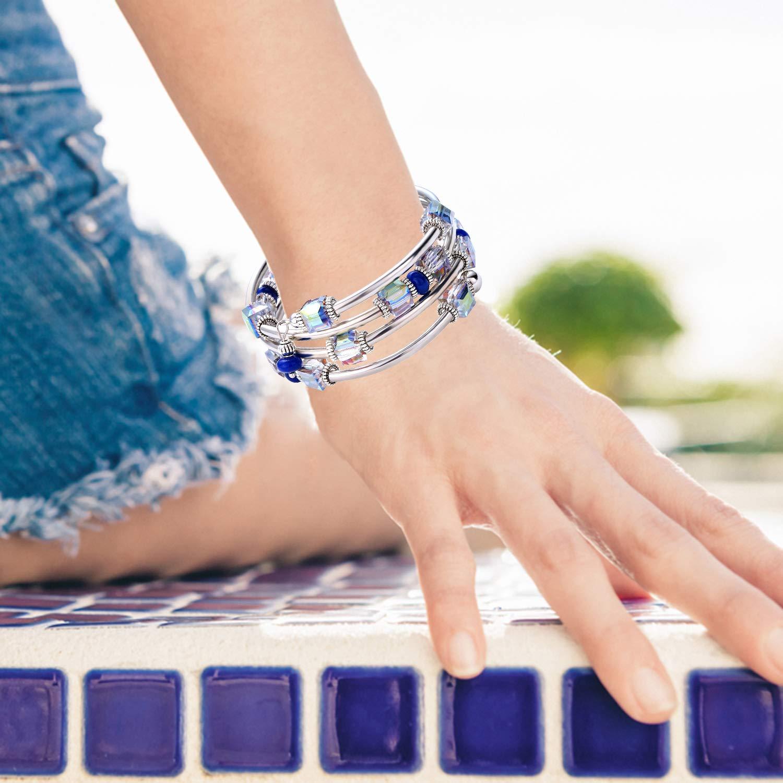 762a84ba4e41d Crystal Wrap Bangle Bracelets for Women - Fashion Boho Strand ...