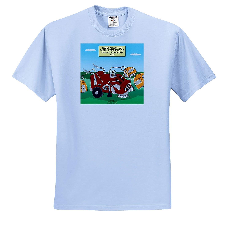 3dRose Rich Diesslin Knots Scout Cartoons T-Shirts Introducing The Campsite Compactor 3000 Campsite Clean-Up