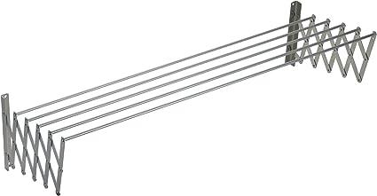 Aluminio Sauvic Tendedero Extensible Plateado 80x78x26.5 cm