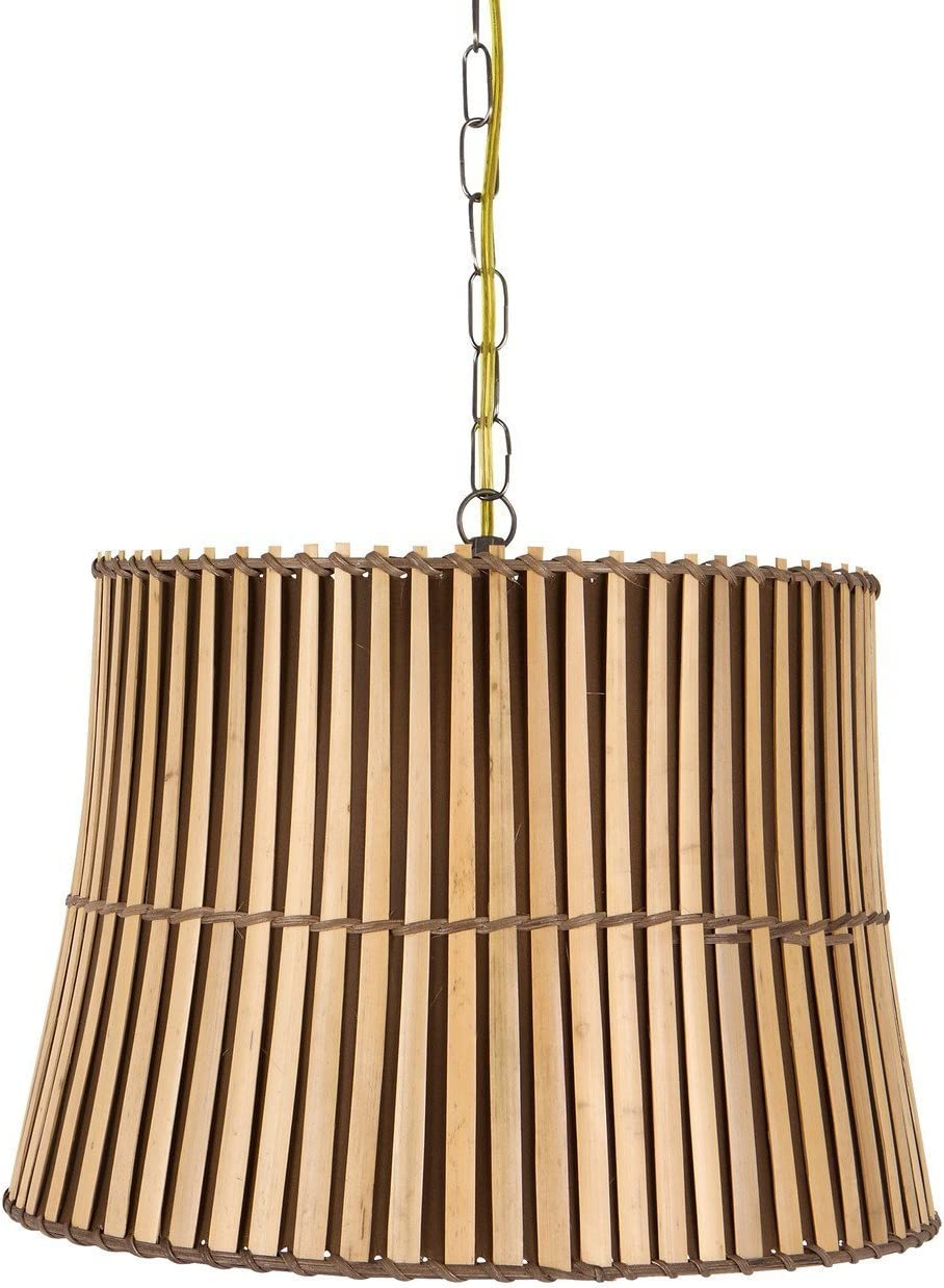 Upgradelights All Natural Bamboo 19Inch Swag Lamp Shade