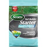 Scotts Turf Builder Starter Food for New Grass Plus Weed Preventer - 2-in-1 Formula - Fertilizes New Grass and Prevents Weeds