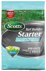 Scotts Turf Builder Starter Food for New Grass Plus Weed Preventer
