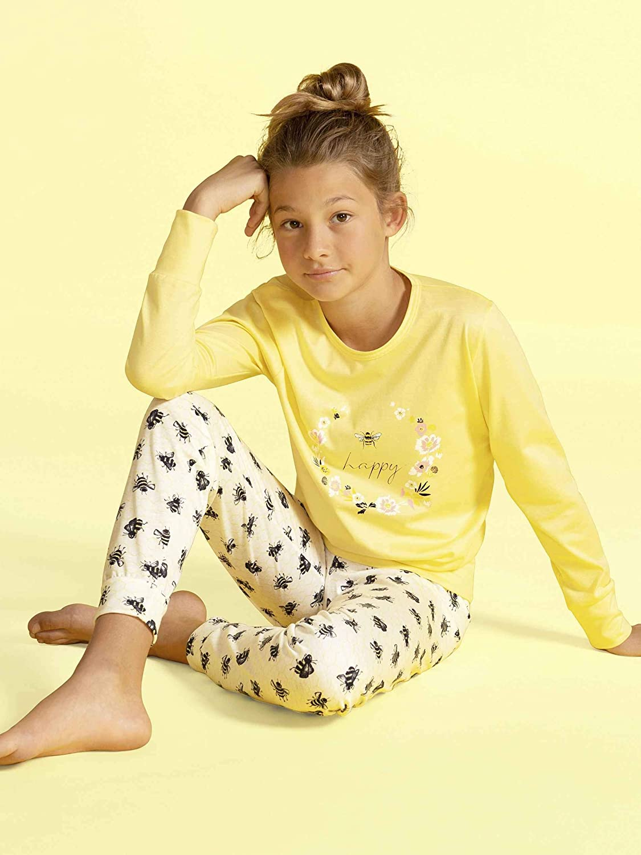 CALIDA Honey Bee M/ädchen B/ündchen-Pyjama M/ädchen