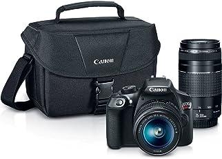 Canon EOS Rebel T6 Digital SLR Kit de Camara con Lentes EF-S 18-55mm y EF 75-300mm (Black)