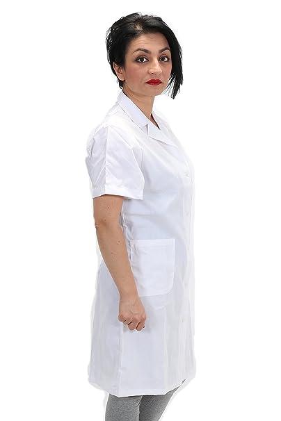 Petersabitidalavoro Grembiule Bianco Camice da Lavoro Donna Sanitaria  Medico Infermiera Domestica  Amazon.it  Abbigliamento 23f4c1076c2e