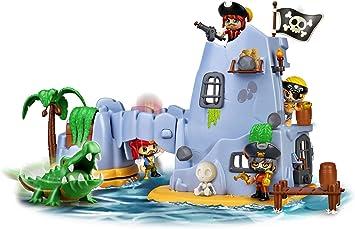Pinypon Action- Isla Pirata del Capitán Caimán con 2 Figuras, niñas a Partir de 4 a 8 años (Famosa 700015637): Amazon.es: Juguetes y juegos