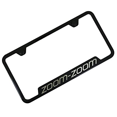 Automotive Gold Laser Etched Zoom Zoom Black Cut-Out Frame: Automotive
