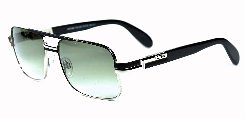 8a61346845 Amazon.com  Cazal 988 sunglasses color 002 Black-Silver   Gray gradient  lenses new  Clothing