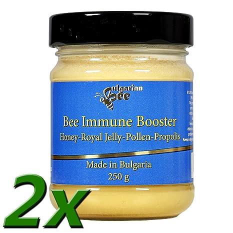 500 g Mezcla de propóleos, polen y jalea real en miel de bosque de flores silvestres.