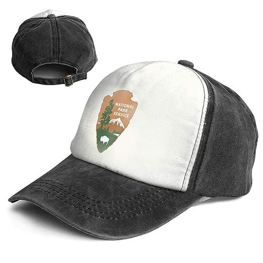 00a74321 Amazon.com: Fashion Vintage Hat National Park Service Logo Adjustable Dad  Hat Baseball Cowboy Cap: Clothing