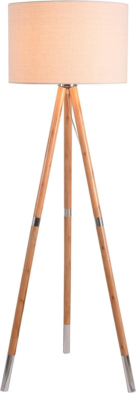 Kenroy Home 32988NWBS Jordon Floor Lamp, Wood