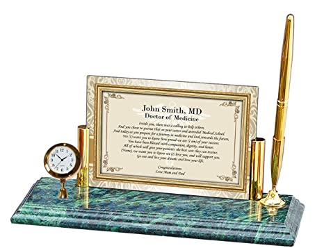 amazon com personalized poetry clock gift doctor physician medical
