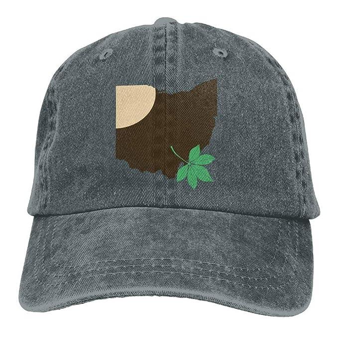 ... get qingdg ohio state buckeye leaf snapback casual baseball hat denim  hat for men and women ... 3e5bcba2d632