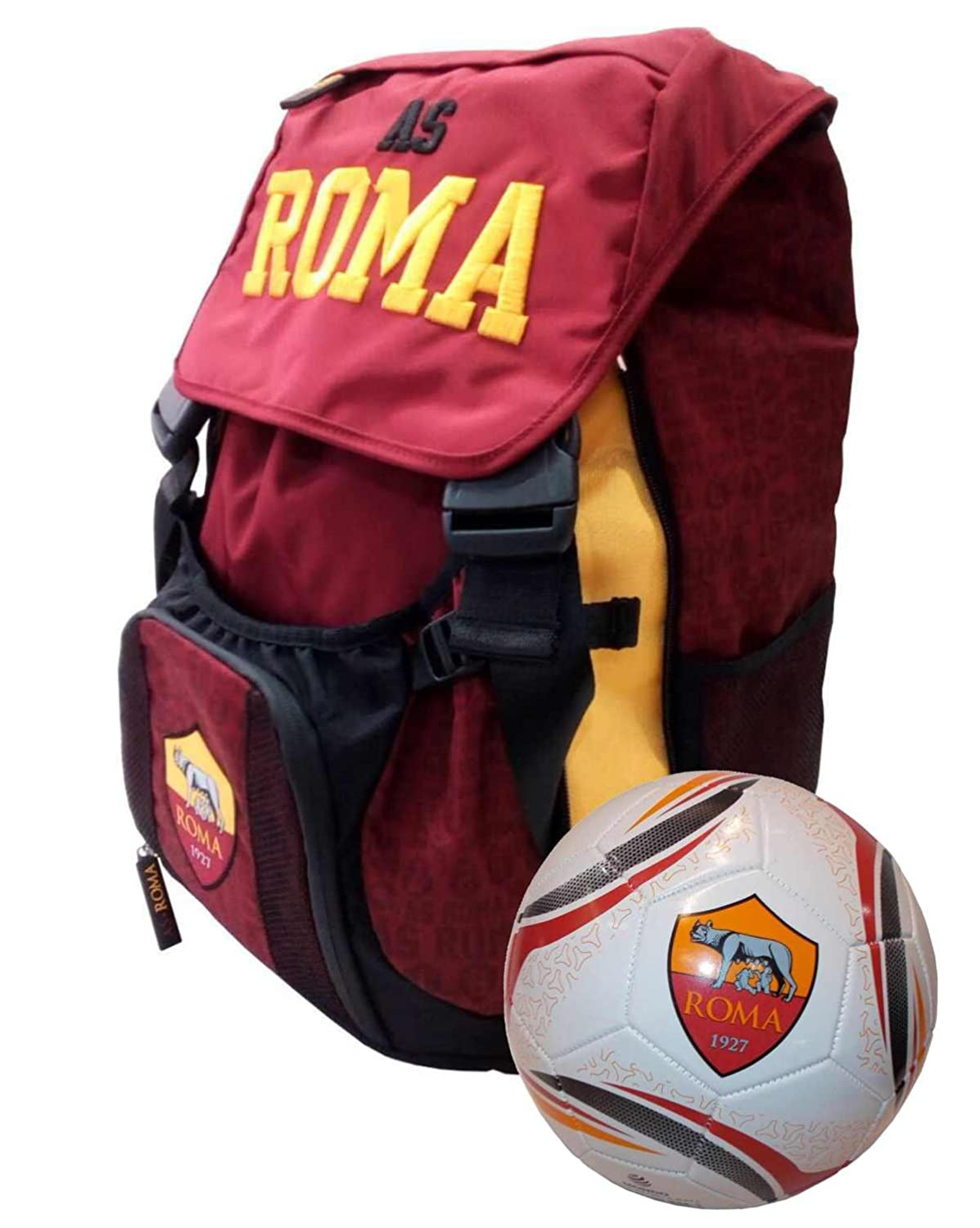 as Roma 1927 - Mochila Extensible Escolar + balón de Regalo ...