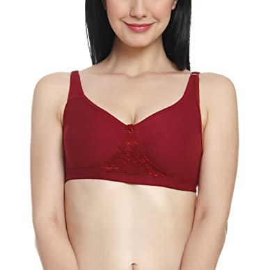 df8f2d5cc7bfd Innocence Mehroon Cotton Non-Wired Non Padded Bra Maroon  Amazon.in   Clothing   Accessories