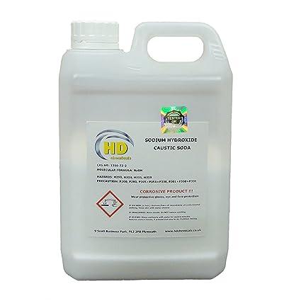Limpiador de desagüe, sosa cáustica de 1,5 kg de caudal de grado 99