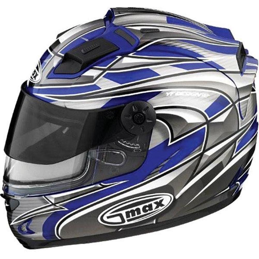 G-Max LED Top Vent for GM68 Helmet - White/Blue Odyssey 980189