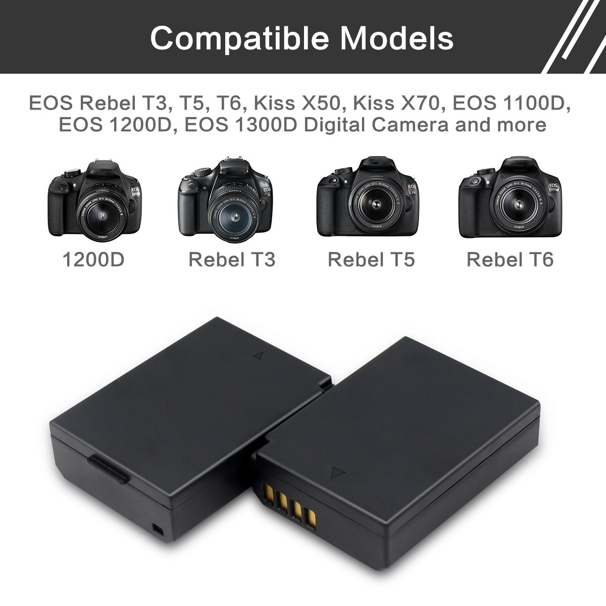 Amazon.com: LP-E10 - Batería de repuesto para Canon LP-E10 y ...