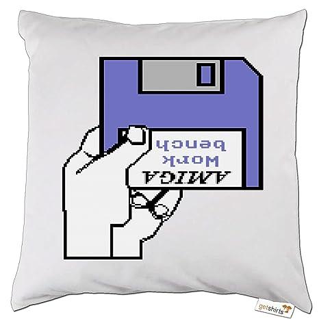 getshirts - Best Of - Cojín - Retro Gaming - amiga disquete ...