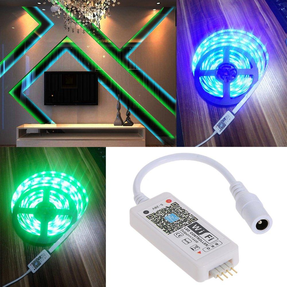 smartphone magic mini wifi rgb fernbedienung steuerung f r led streifen strip ebay. Black Bedroom Furniture Sets. Home Design Ideas