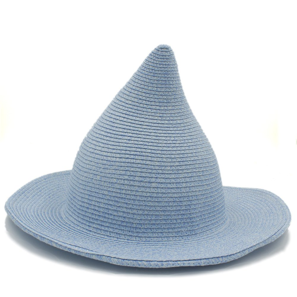 2018 Women Hats, Straw Sun Hat, Fashion Women Men Gandalf Witch Wizard Cosplay Party Carnival Halloween Braided Size : 57-58cm) wenquan-hats