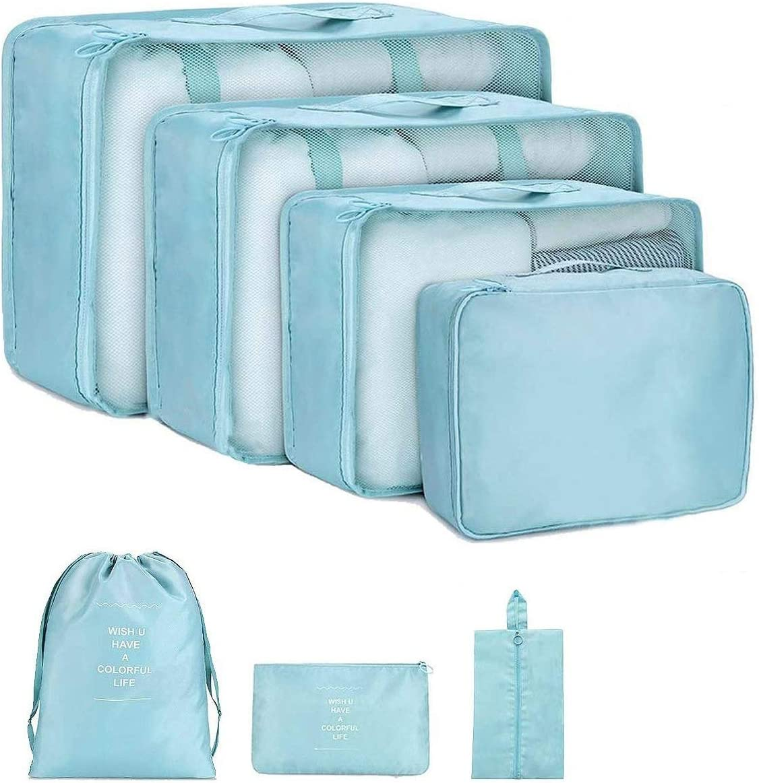 Travel Luggage Duffle Bag Lightweight Portable Handbag Blue Dinosaur Pattern Large Capacity Waterproof Foldable Storage Tote