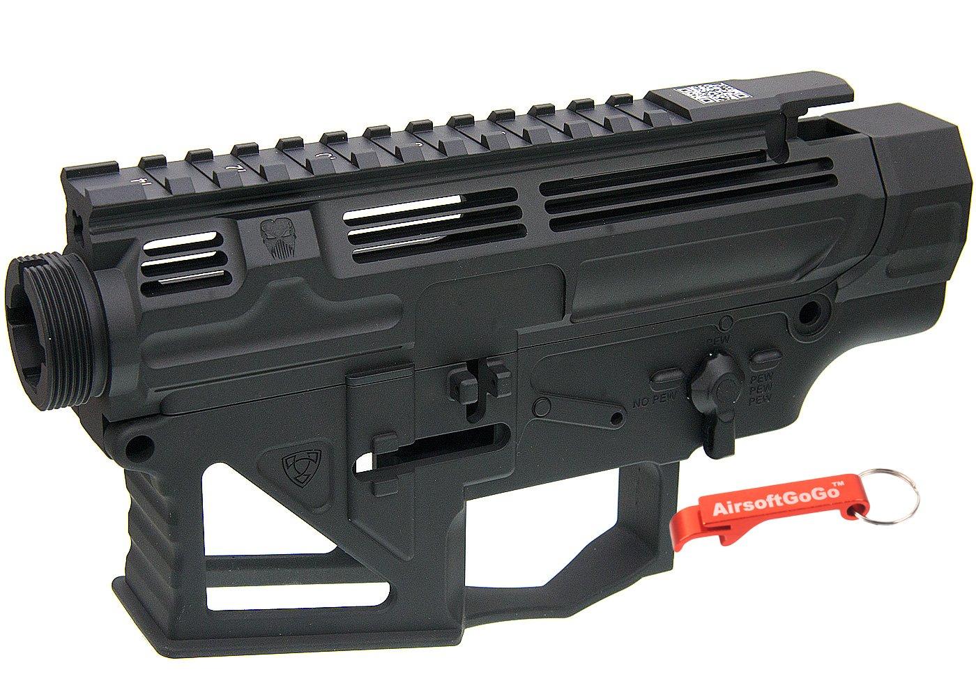 APS PERレシーバーフレーム/レシーバーセット (タイプ2) APS M4電動ガンVER.2メカボックス対応 (ブラック) 【キーホルダー付】 B07BHFQ4H5