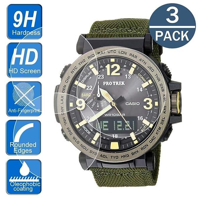 Protector de Pantalla para Reloj Casio PRG-600/650, Bordes ...