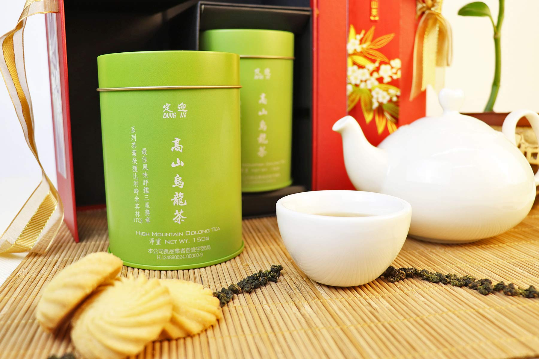 DING IN High-mountain Oolong Tea Feast Straight Gift Box 150g/2cans by Ding In ltd. (Image #4)
