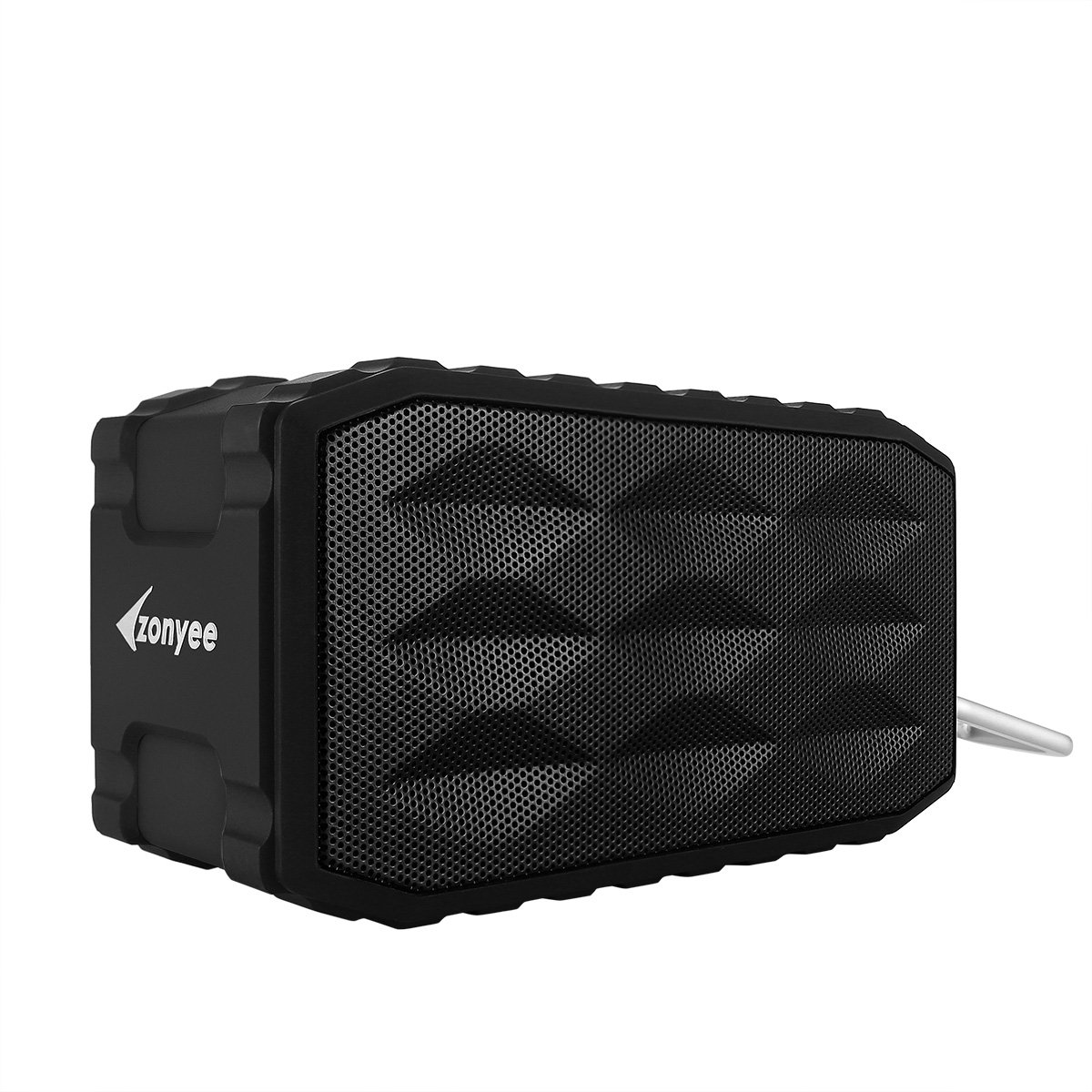 Zonyee Ultra Portable Wireless Stereo Pairing Splashproof Bluetooth Speakers with 8W Dual-Drive Heavy Subwoofers, Hands Free Calls, Support A2DP/NFC/TF Card, Dustproof and Shockproof- Black