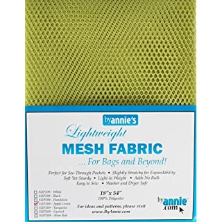"Annie By PBA02028 Light Weight Mesh Fabric, 18"" by 54"", Apple Green"