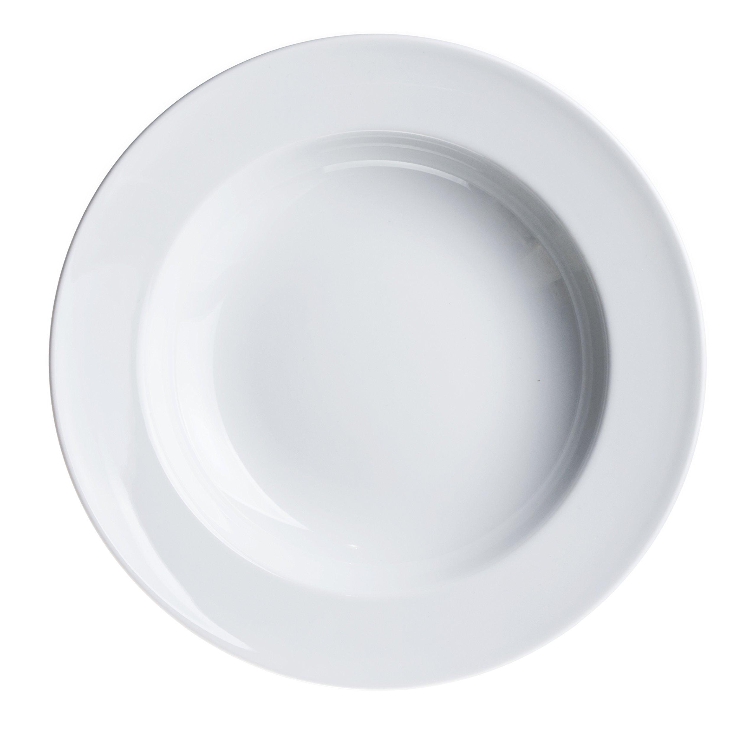 4-Piece PASTA/Salad/Soup/Serving PLATES 11.8 inc, White Porcelain, Restaurant&Hotel Quality