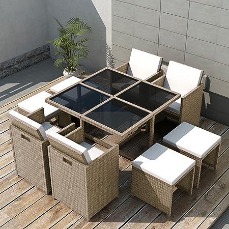 Festnight Salons de Jardin Ensemble de mobilier de Jardin 21 ...