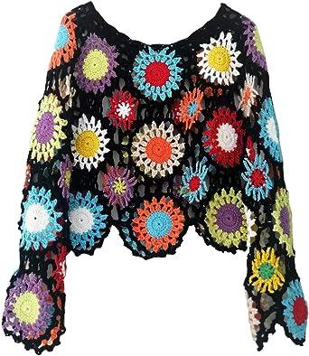 Colorful handmade crochet top