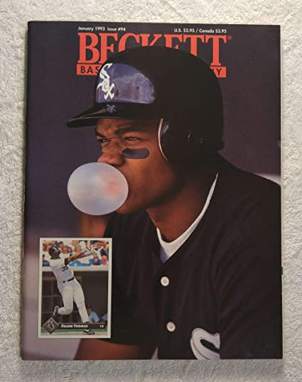 Frank Thomas Blowing A Bubble Chicago White Sox Beckett