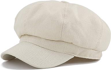 Gisdanchz Sombrero Octogonal Boinas Gorras De Mujer Verano ...
