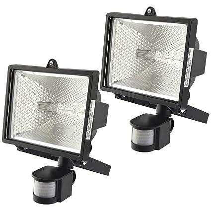 Sensor de movimiento PIR 400W proyectores halógenos exterior Spotlight Lámpara de luz de seguridad