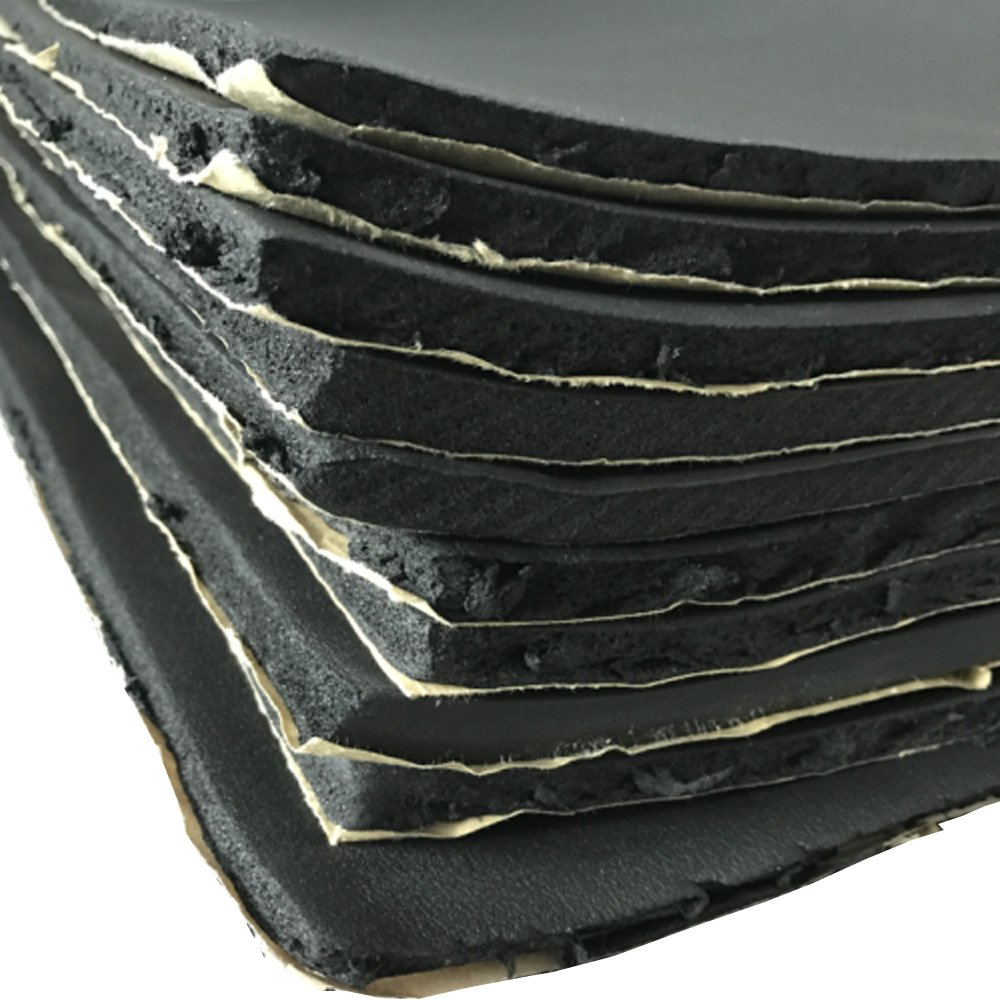 Mintice 12 X veicolo auto insonorizzazione isolamento fonoassorbente chiuso Antirombo Antivibrante Foam 7MM 30cm X 50cm
