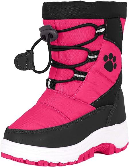 Rugged Bear Girls PAW Print Snow Boot