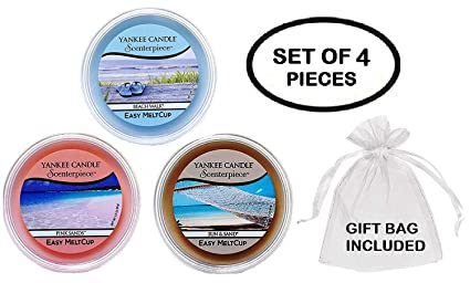 5f3c48993076c Yankee Candle Summer Favorites MeltCups -- Beach Walk + Pink Sands + Sun  and Sand -- Set of 3 Easy Meltcups Scenterpiece Wax Warmer System Refills  ...