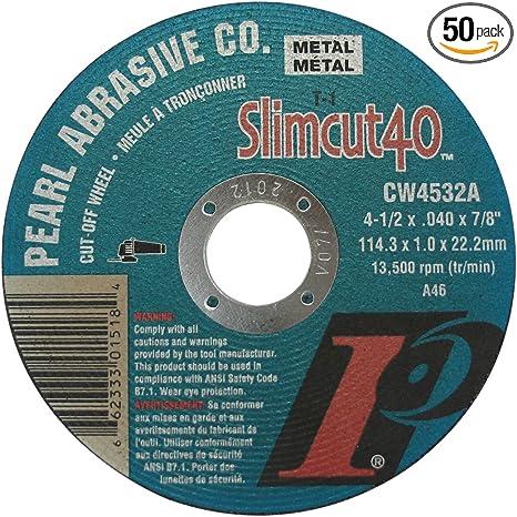 "4-1//2/"" X 1//8/"" X 7//8/"" Type 1 41 Metal Cut Off Wheels 25pc"