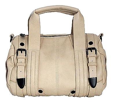 0004c88623 Steve Madden Cream B Delano Satchel: Amazon.in: Shoes & Handbags