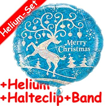 Folienballon * MERRY CHRISTMAS * + HELIUM FÜLLUNG + HALTERN // Frohe ...