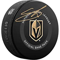 $55 » Shea Theodore Vegas Golden Knights Autographed 2019 Model Official Game Puck - Autographed NHL Pucks