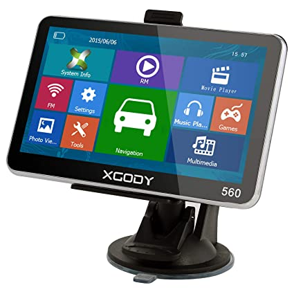 XGODY 560 GPS,Navegador para Coche y Camión -Navegación de 5 Pulgadas-Llamadas