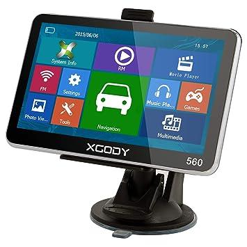 GPS para Coches, XGODY 560 Sistema de Navegación con ...