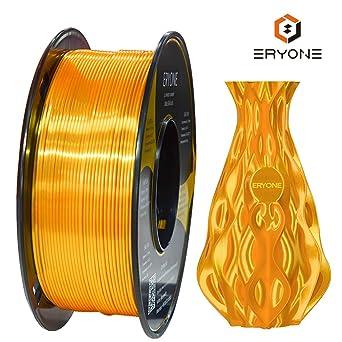 Filamento PLA Oro Ultra Seda 1.75mm, ERYONE Impresión 3D PLA Super ...